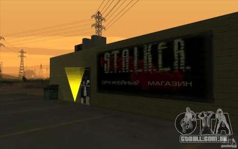 Loja de arma S. T. A. L. k. e. R para GTA San Andreas segunda tela