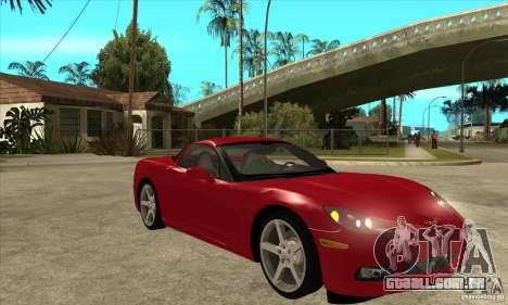 Chevrolet Corvette C6 Z51 - Stock para GTA San Andreas vista traseira
