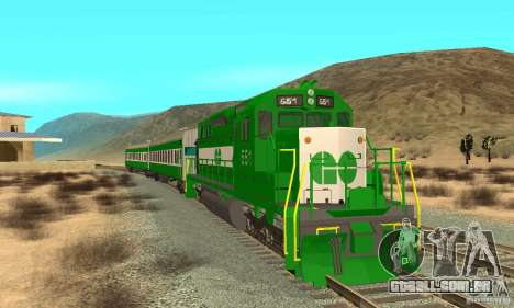 THE GO Transit Train para GTA San Andreas