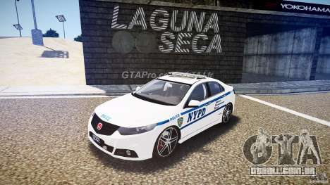 Honda Accord Type R NYPD (City Patrol 7605) ELS para GTA 4