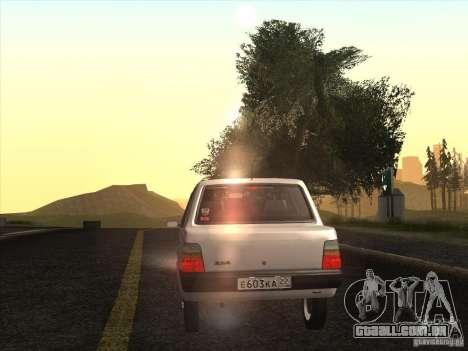 VAZ 1111 Oka Sedan para GTA San Andreas vista interior