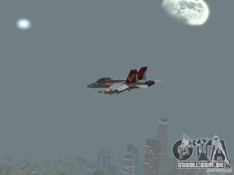 FA-18D Hornet para GTA San Andreas vista direita