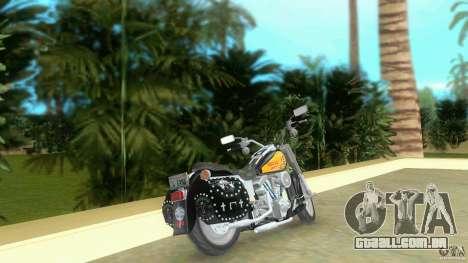 Harley Davidson FLSTF (Fat Boy) para GTA Vice City vista traseira esquerda