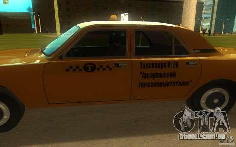 GAZ Volga 3102 táxi para GTA San Andreas traseira esquerda vista