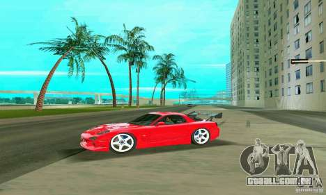 Mazda RX7 Charge-Speed para GTA Vice City vista inferior