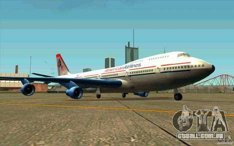 B-747 American Airlines Skin para GTA San Andreas esquerda vista