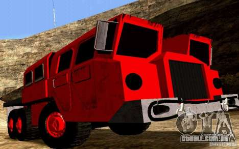Maz-7310 Civil versão estreita para GTA San Andreas vista traseira