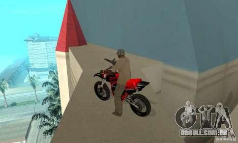 DT 180 Motard para GTA San Andreas vista traseira
