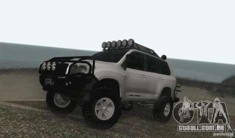 Toyota Land Cruiser 200 Off Road v1.0 para GTA San Andreas esquerda vista