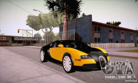 Bugatti Veyron 16.4 EB 2006 para GTA San Andreas vista traseira