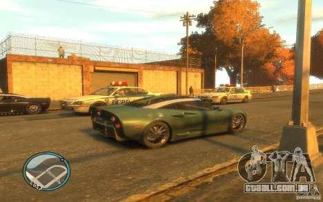 Spyker C8 Aileron para GTA 4 vista de volta