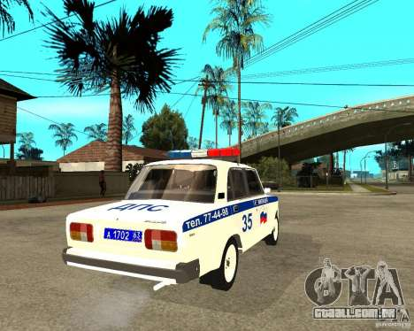 DPS de 2105 Vaz para GTA San Andreas traseira esquerda vista
