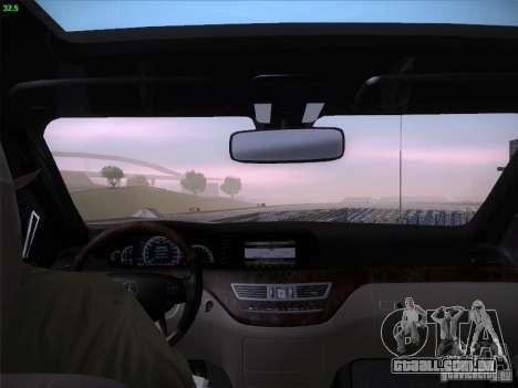 Mercedes-Benz S65 AMG V2.0 para GTA San Andreas vista superior
