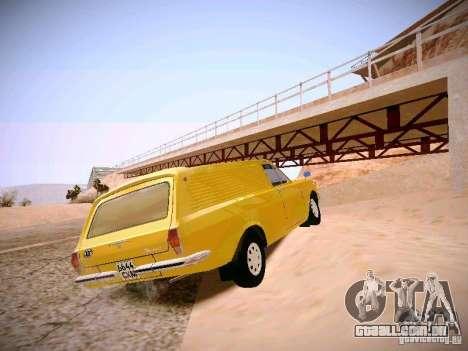 Van de Volga GAZ-24-02 para GTA San Andreas traseira esquerda vista