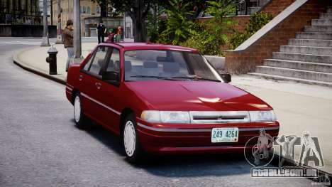Mercury Tracer 1993 v1.0 para GTA 4 vista interior