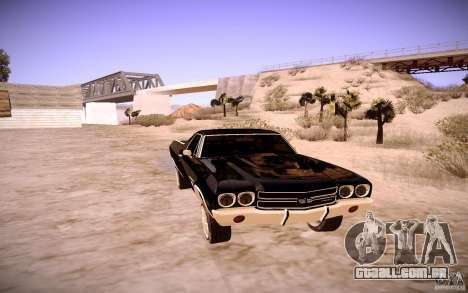 Chevrolet El Camino SS 1970 para GTA San Andreas esquerda vista
