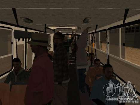 Reboque Ikarusu 280.46 para GTA San Andreas traseira esquerda vista