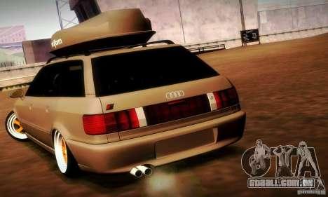 Audi RS2 Avant Thug para GTA San Andreas vista traseira