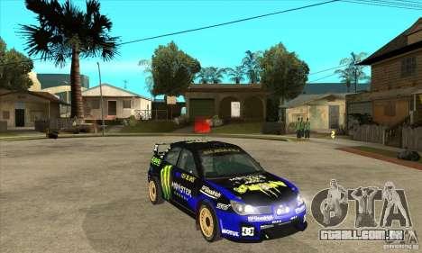 Subaru Impreza STi WRC wht2 para vista lateral GTA San Andreas