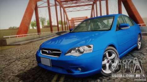 Subaru Legacy 2004 v1.0 para GTA San Andreas vista traseira