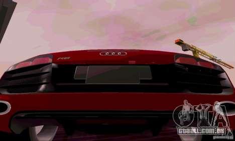 Audi R8 V10 Spyder 5.2. FSI para GTA San Andreas vista direita