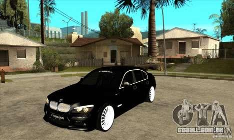 BMW 7-er F02 HAMANN 2010 para GTA San Andreas