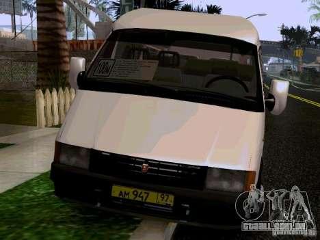 Gazela 32213 1994 para GTA San Andreas vista traseira