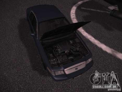 Ford Crown Victoria 2003 para GTA San Andreas vista interior