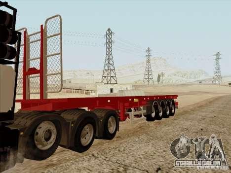 Reboque MAN TGX 8 x 4 para GTA San Andreas traseira esquerda vista
