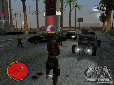 GTA IV HUD v2 by shama123 para GTA San Andreas quinto tela