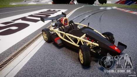 Ariel Atom 3 V8 2012 para GTA 4 vista interior