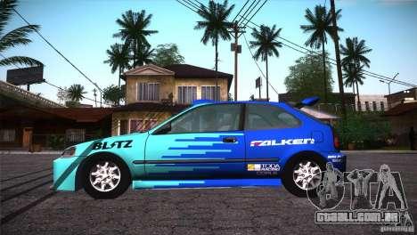 Honda Civic Tuneable para o motor de GTA San Andreas