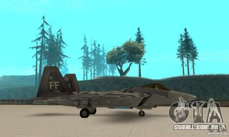 F-22 Starscream para GTA San Andreas esquerda vista