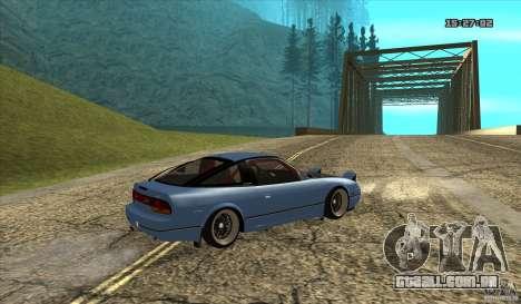 Nissan 240SX JDM para GTA San Andreas traseira esquerda vista