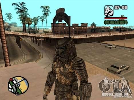 Predador sobre a armejca de substituição para GTA San Andreas segunda tela