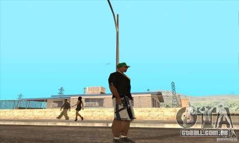 WEAPON BY SWORD para GTA San Andreas por diante tela