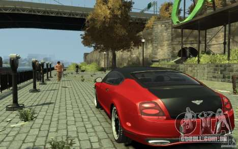 Bentley Continental GT SS para GTA 4 traseira esquerda vista