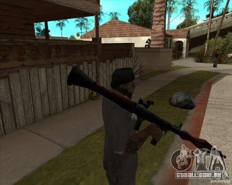 Resident Evil 4 weapon pack para GTA San Andreas por diante tela