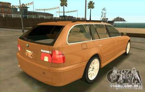 BMW 525 Touring V2 para GTA San Andreas traseira esquerda vista