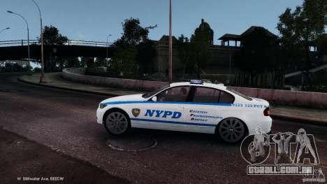 NYPD BMW 350i para GTA 4 esquerda vista