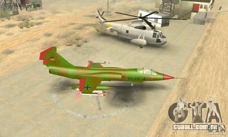 F-104 Starfighter Super (verde) para GTA San Andreas vista direita