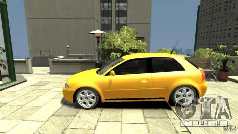 Audi S3 para GTA 4 esquerda vista