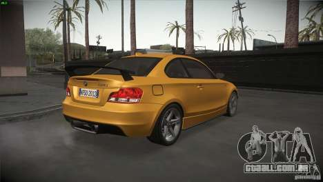BMW 135i Coupe Road Edition para GTA San Andreas vista direita