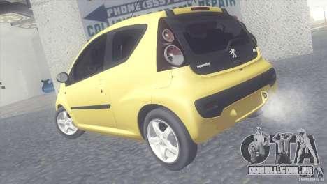 Peugeot 107 2011 para GTA San Andreas esquerda vista
