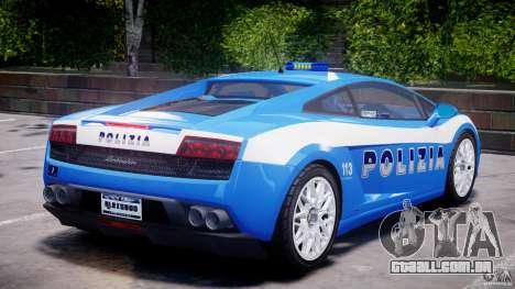Lamborghini Gallardo LP560-4 Polizia para GTA 4 interior