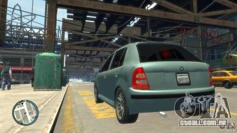 Skoda Fabia para GTA 4 vista direita