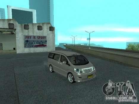 Toyota Alphard G Premium Taxi indonesia para GTA San Andreas vista direita