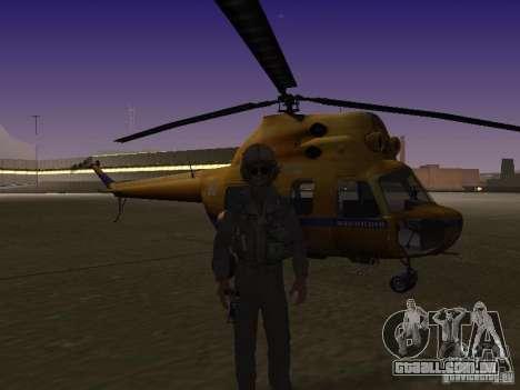 Polícia mi-2 para GTA San Andreas traseira esquerda vista