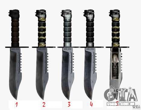 A faca de n º 4 do perseguidor para GTA San Andreas terceira tela