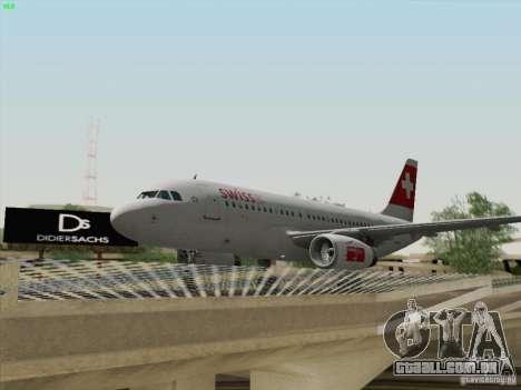 Airbus A319-112 Swiss International Air Lines para GTA San Andreas vista interior